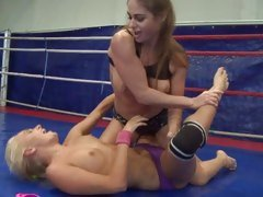 Cathy Heaven and Ivana Sugar get hot in the ring