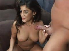 Michelle Avanti gets sprayed with hot cock juice