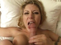 Luscious Velicity Von gets splashed with hot cum