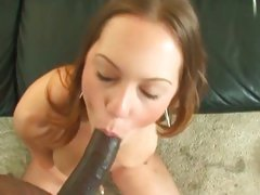 Dark dick lover Kaylee Sanchez gobbles a huge dark dick
