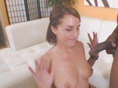 Vivacious Nikki Anne gets sprayed with hot cum