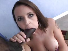 Sassy Mandy Sweet slurps on this throbbing prick