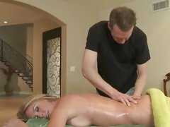 Sizzling Brynn Tyler gets a relaxing rub down