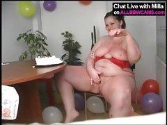 BBW model birthday cake fun