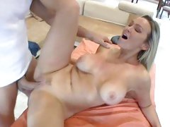Rampant Abbey Brooks gets her snatch stuffed with cock