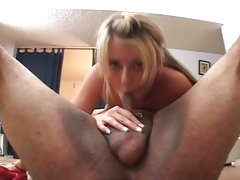 Sassy Sophie Dee drools on this throbbing skin flute