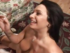 Sizzling Kitty Bella gets doused in hot dick juice