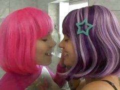 Hot wigged starlets Belladonna and Misti Dawn