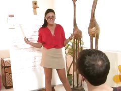Sexy teacher Tiffany Brookes services a student
