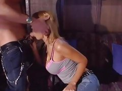 Hottie Trina Michaels gets her slippery throat slammed