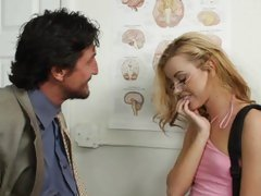 Naughty Jessie Rogers is seduced by her sexy teacher