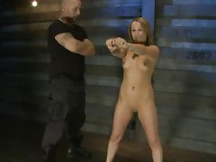 Sex slave Jessie Coxxx is put through her paces
