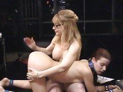 Roasting Sarah Blake gets ass spanked by Nina Hartley