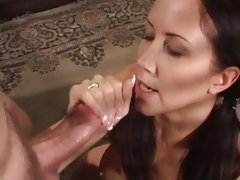 Sizzling babe Flick Shagwell gets blasted with hot jizz