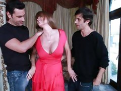 Sizzling MILF Darla Crane teases these two pricks