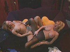 Babes Britney Foster & Carolyn Monroe scissor fuck
