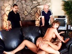 This sassy wife rides this dick in front of her husband