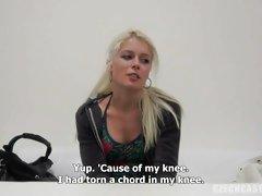 Czech Casting Sandra gets naked for a blowjob