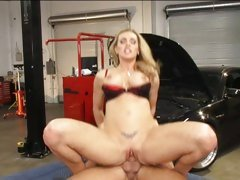 Rampant Tanya Tate is crammed up her dripping snatch