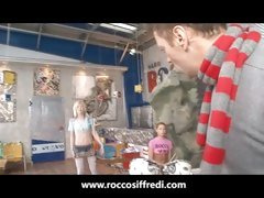 Rocco Siffredi Fucking Teens at the Garage