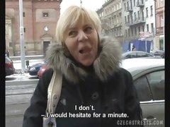 CZECH STREETS - JITKA TEMPTED TO SUCK COCK