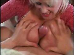 Dude fucks the busty blonde milf in tight sweater