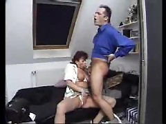 Mature redhead gobbling hot cock and balls