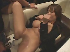 Amazing big tits Japanese girl vibrated