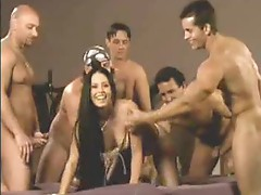 She lets tons of guys creampie her pussy
