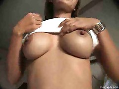 Tasty Thai girl laid in his hotel room