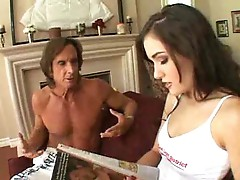 Two older guys fucking Sasha Grey hard