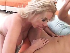 Mom with hairy vagina loves a big cock