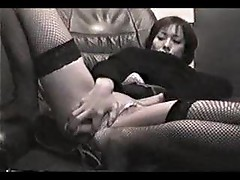 Japanese girl masturbating lustily