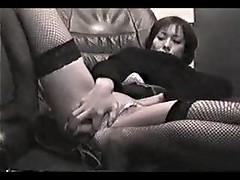 Japanese girl masturbating lustily