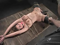 Girl tied and gagged and whipped
