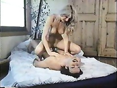 Blonde fucked by man with mustache