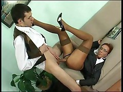 He gives corporate milf fuck in the ass