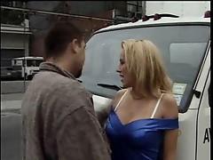 Blonde sucking his cock in public places