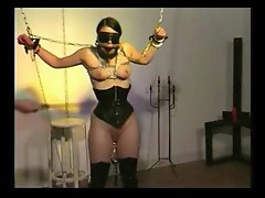Lots of painful bondage and punishment