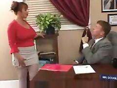 Girl chugging down cock at gloryhole