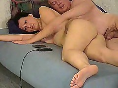 Huge naturals on the milf that he fucks