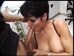 Big cock gets sucked by milf slut