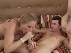 Hot blondes share his big cock