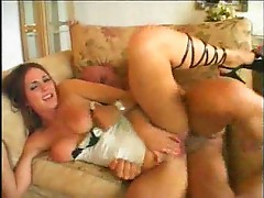 Incredible lingerie on this slut that rides dick