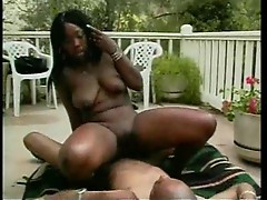 Black girl with big ass makes black cock happy