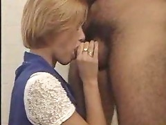 Young lady having lusty sex in bathroom