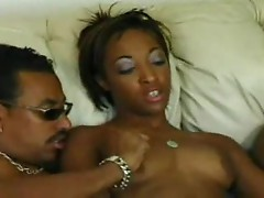 Black girl gangbanged lustily by dudes