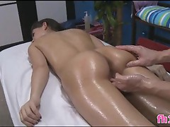 These 2 dirty sluts decide to turn the massage session