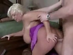 Heavy blonde and the big cock going at it