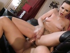 Dana DeArmond like the hard bung of her hole on couch